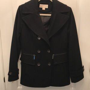 Michael Kors Black Pea Coat - Like New